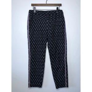 J. CREW Pull On Ikat Pant with Metallic Tux Stripe